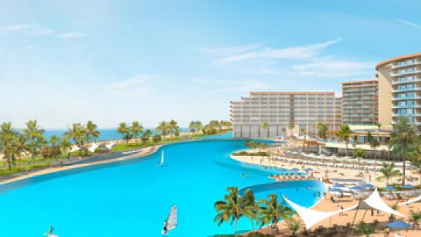 Desarrollan una laguna en el Hard Rock en Cancún. (Foto: Cortesía Crystal Lagoons).