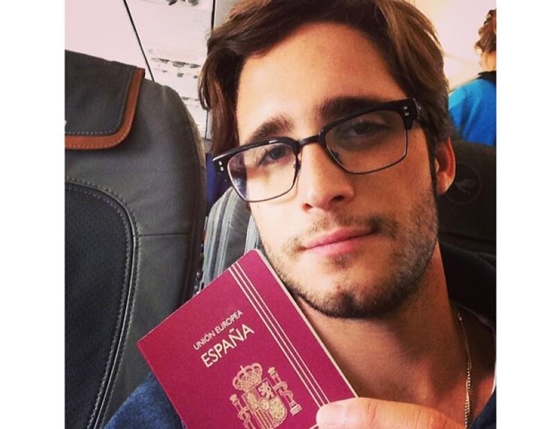 Aunque actualmente reside en Los Ángeles, el actor mexicano viajó a Barcelona para filmar una nueva película.