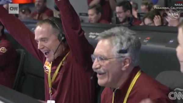 Así recibió la NASA la llegada de la sonda InSight a Marte