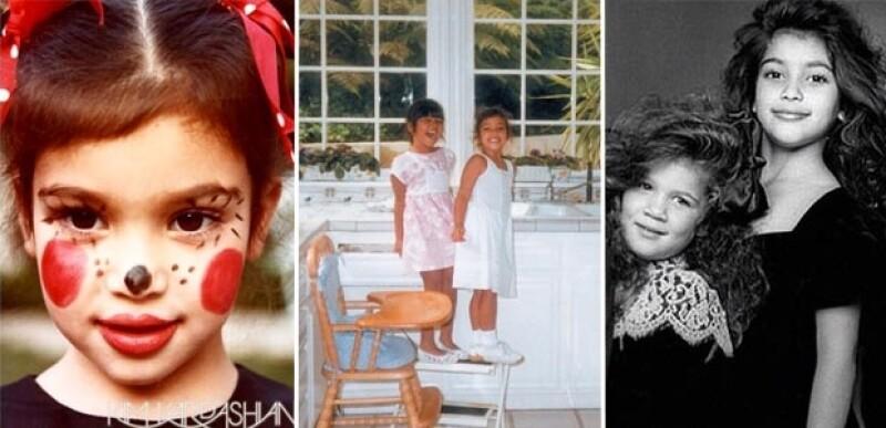 El resto de las Kardashian festejaron a Kim con hermosas fotos de su infancia.