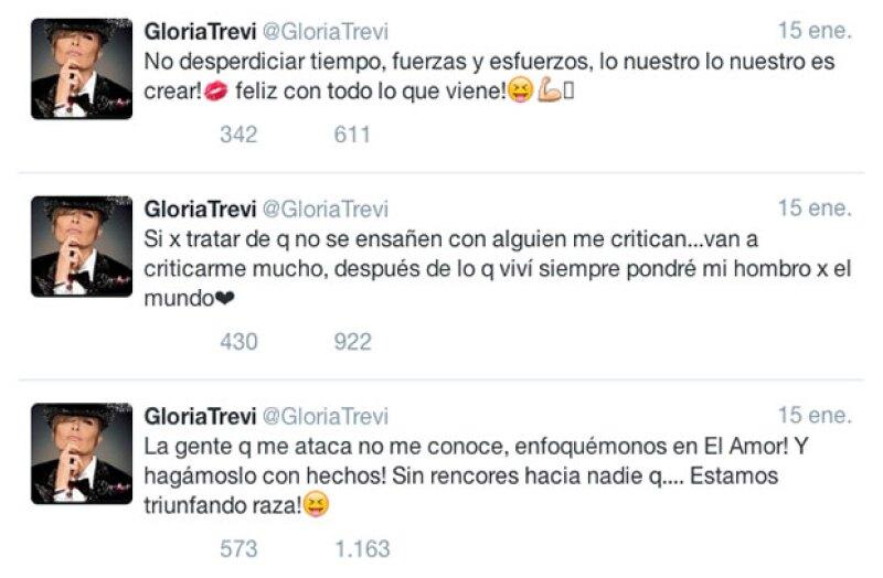 La cantante se defendió a través de una serie de tuits.