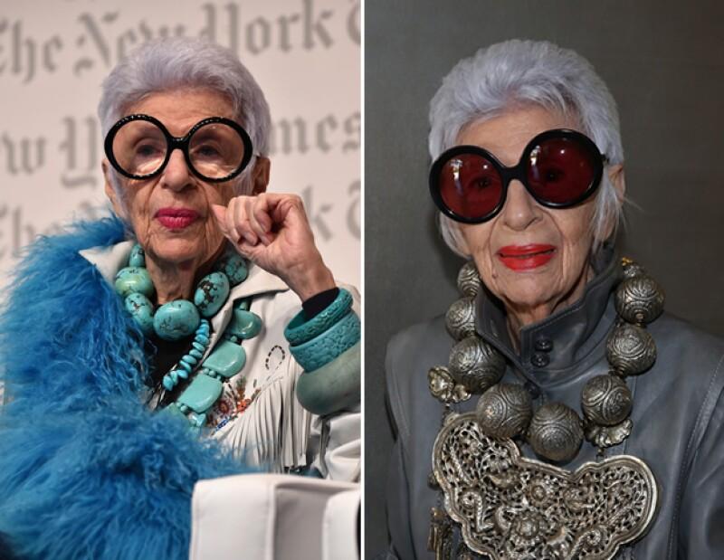 Iris Apfel sigue siendo un ícono de estilo a sus 94 años.