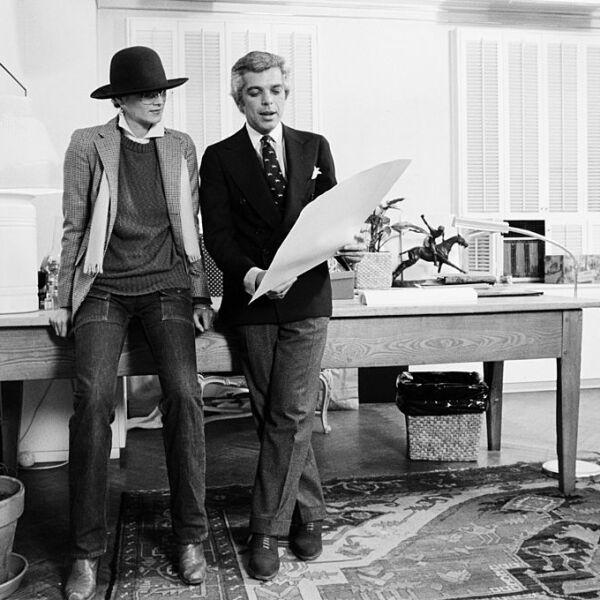 Ralph Lauren In His Office