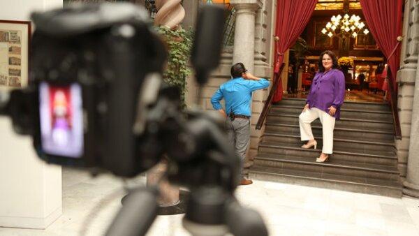 Alma  Sofía Carlón, fue una de las más entusiastas en el shooting y en la entrevista en video.