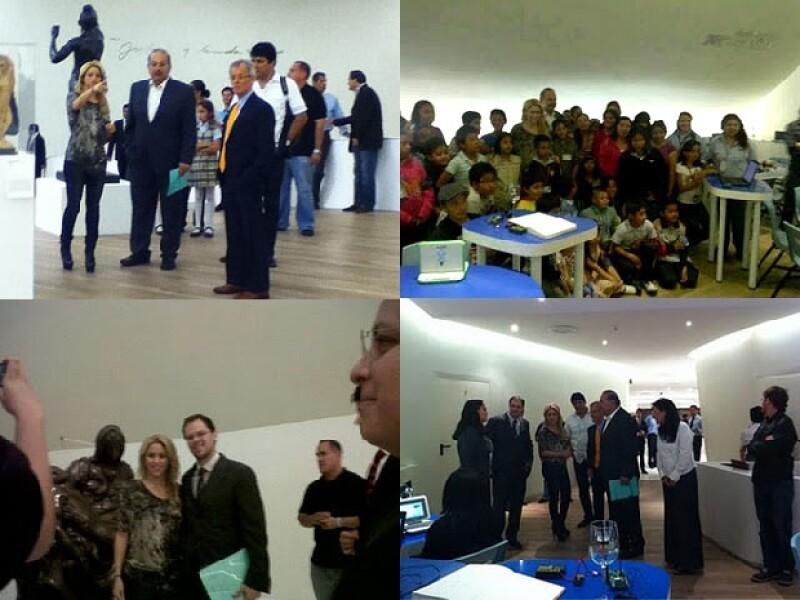 La colombiana visitó el Museo Soumaya, donde Carlos Slim fue su anfitrión.