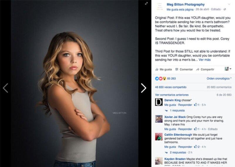 Este es el post que publicó la fotógrafa Meg Britton que se ha hecho viral.