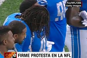 Jugadores de la NFL protestan contra un mensaje de Donald Trump