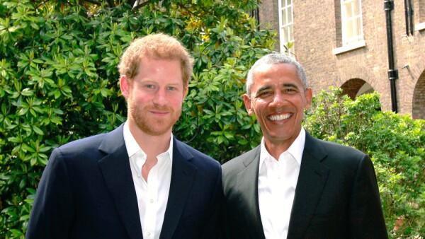 Príncipe Harry y Barack Obama