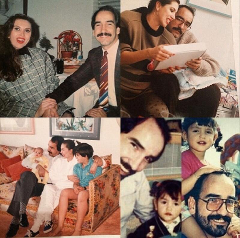 Este martes el papá de la actriz mexicana habría cumplido años, motivo por el que publicó en Instagram un tierno mensaje y varias fotografías de momentos gratos de su infancia con él.