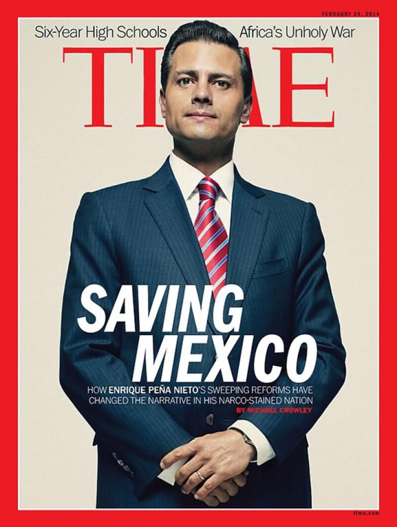 """En la edición del 24 de febrero el tema principal de la revista es el presidente y cómo está """"Salvando a México"""", destacando las reformas que está realizando, algo que ha causado enojo."""