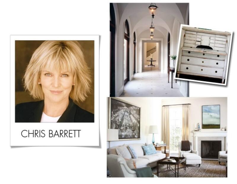 Los diseños de Chris Barrett son elegantes y clásicos.