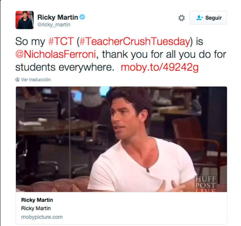 Este tuit recibió respuesta por parte de Nicholas.