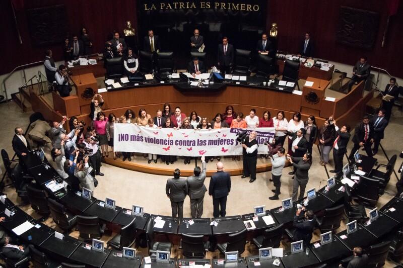 Violencia mujeres Senado