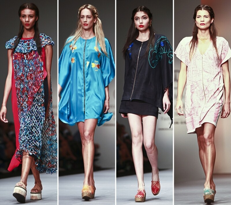 Carla Fernandez presentó prendas con coloridos detalles.
