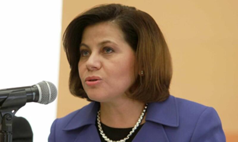 Rosalinda Vélez Juárez confío en que el Senado apruebe la minuta en sus términos. (Foto: Notimex)
