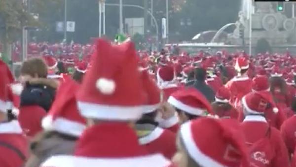 No uno, sino miles de Santa Claus se tomaron las calles