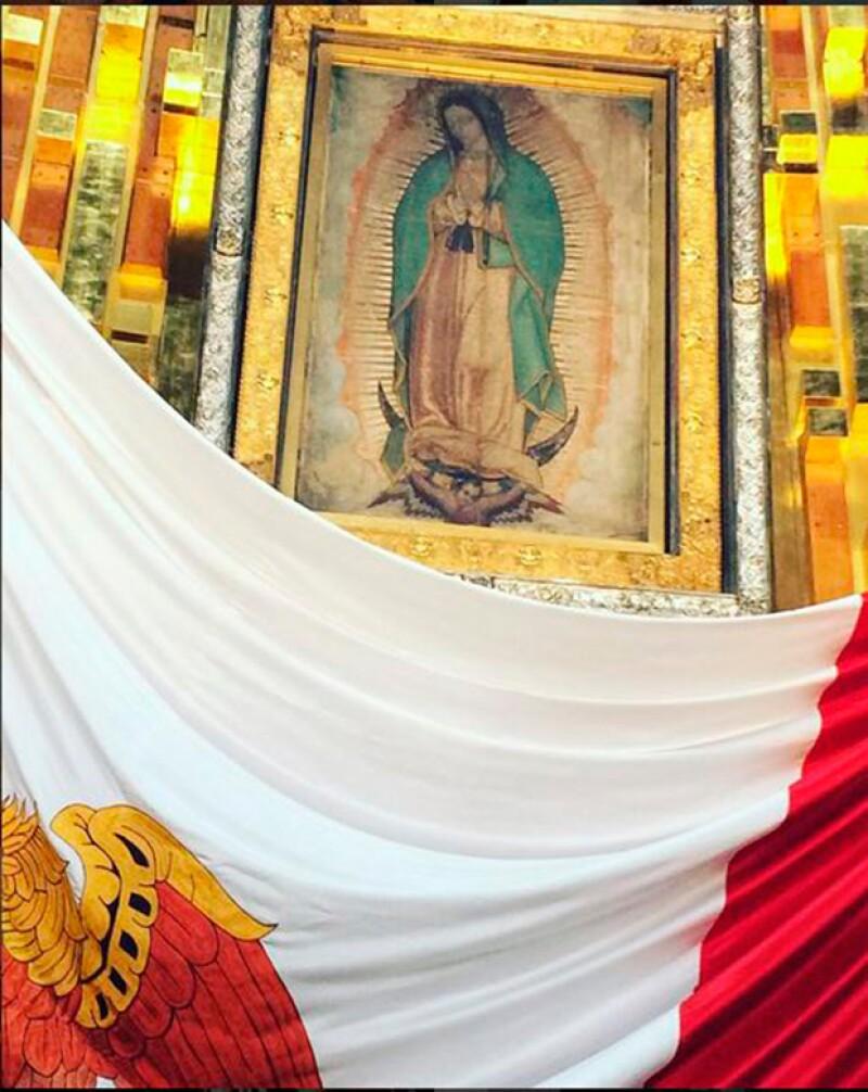 Con esta foto, Diego compartió su devoción por la Virgen de Guadalupe.