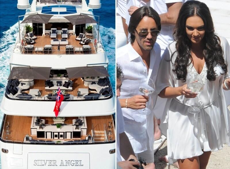 Luego de una boda fuera de lo común en la que se han gastado más de 5 millones de dólares, la heredera celebra con Jay Rutland en un yate de 500 mil dólares a la semana.