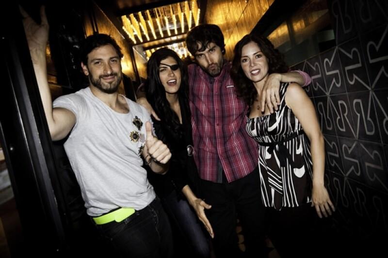 Leo Gaetani, Sonia Velásquez, Benny Ibarra, Isadora González.