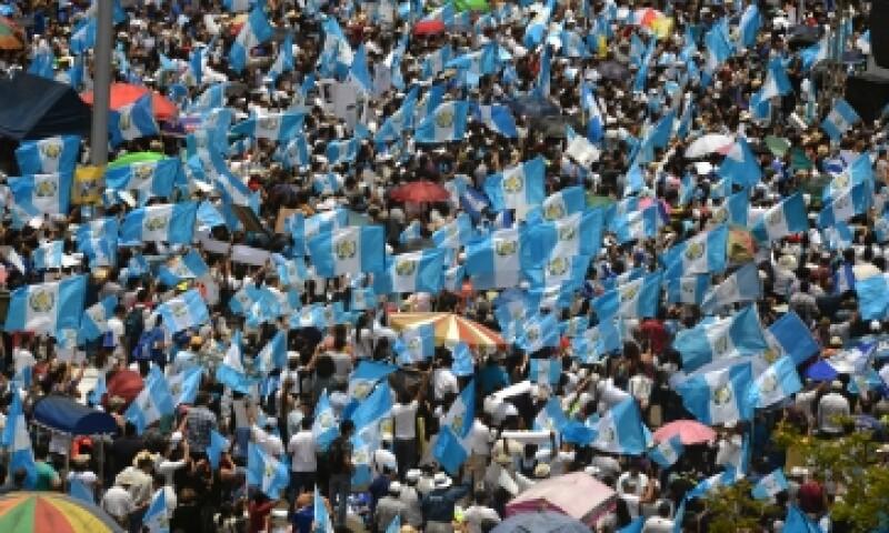 El presidente está acusado de corrupción por la Fiscalía de Guatemala. (Foto: AFP)