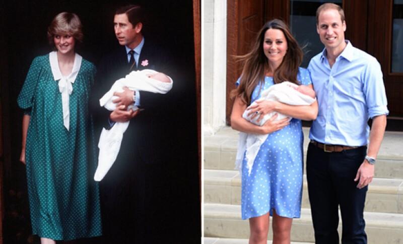 Con la llegada de la princesa, buscamos en el álbum fotográfico de la realeza para recordar la presentación de los momentos en que fueron presentados los príncipes William y Harry.