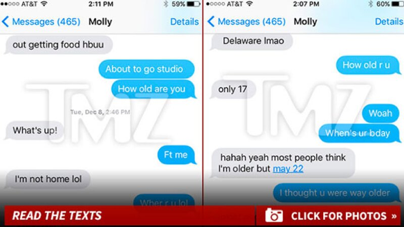 TMZ reveló parte de la conversación de Tyga con Molly.