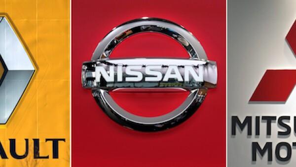 Logos de la alianza Renault-Nissan-Mitsubishi