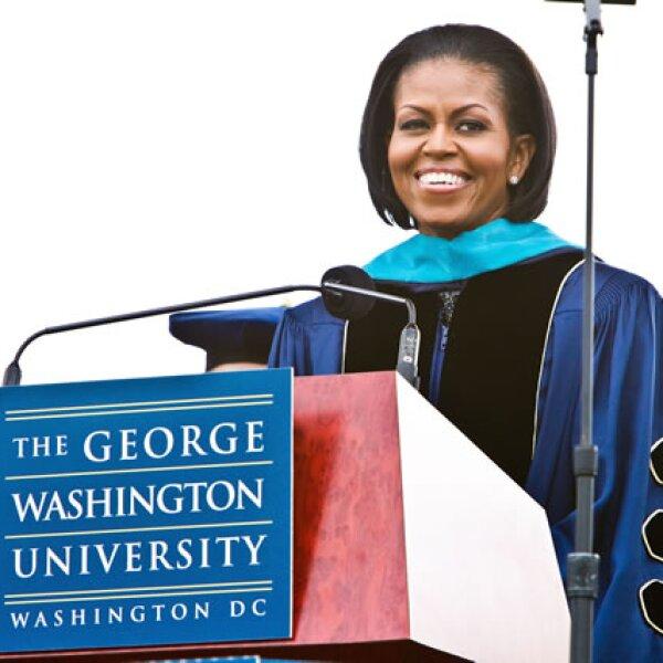 La Universidad de Washington honraron a la primera dama Michelle Obama por sus buenas causas sociales.