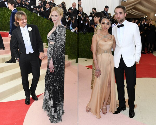 Keith Urban y Nicole Kidman (izquierda) y FKA Twigs y Robert Pattinson.