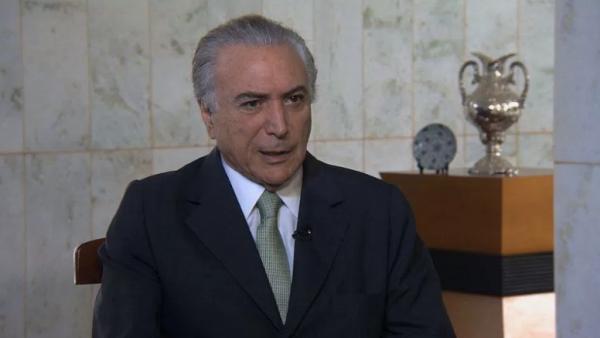 El vicepresidente de Brasil, Michel Temer, asegura que su propuesta es una de reconciliación nacional.