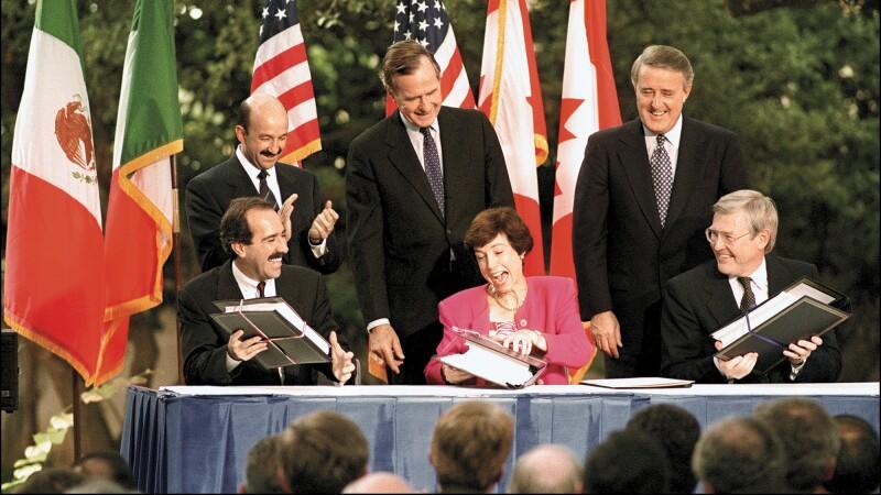 A 22 años de la firma del TLCAN