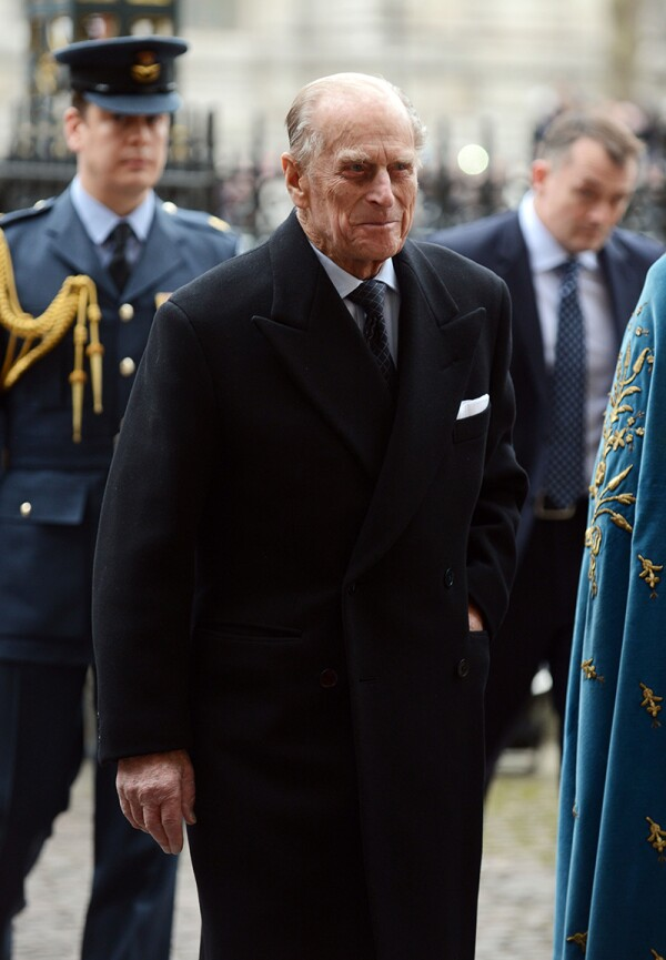 Prince Phillip The Duke Of Edinburgh Arrives At Westminster Abbey Without The Queen For Commonwealth Day London.