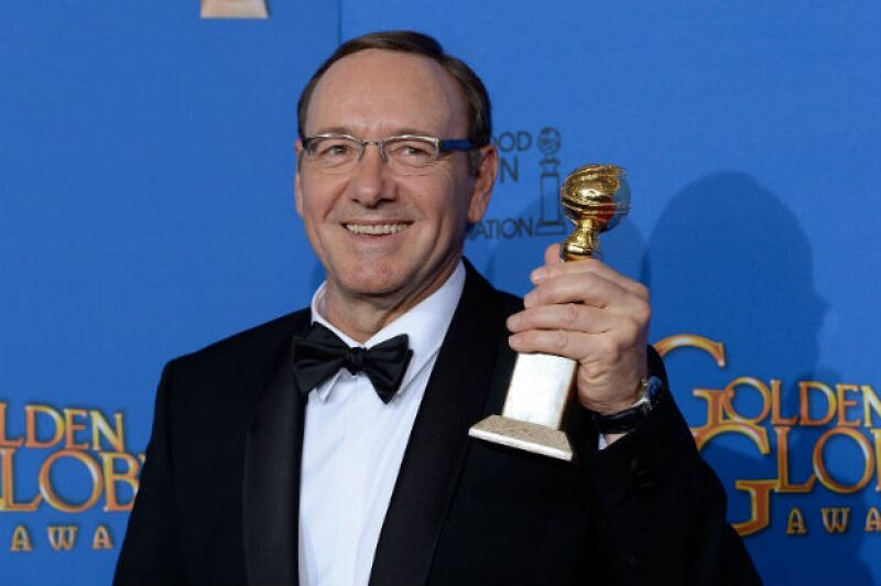 Kevin Spacey, ganador por la serie House of Cards de Netflix.