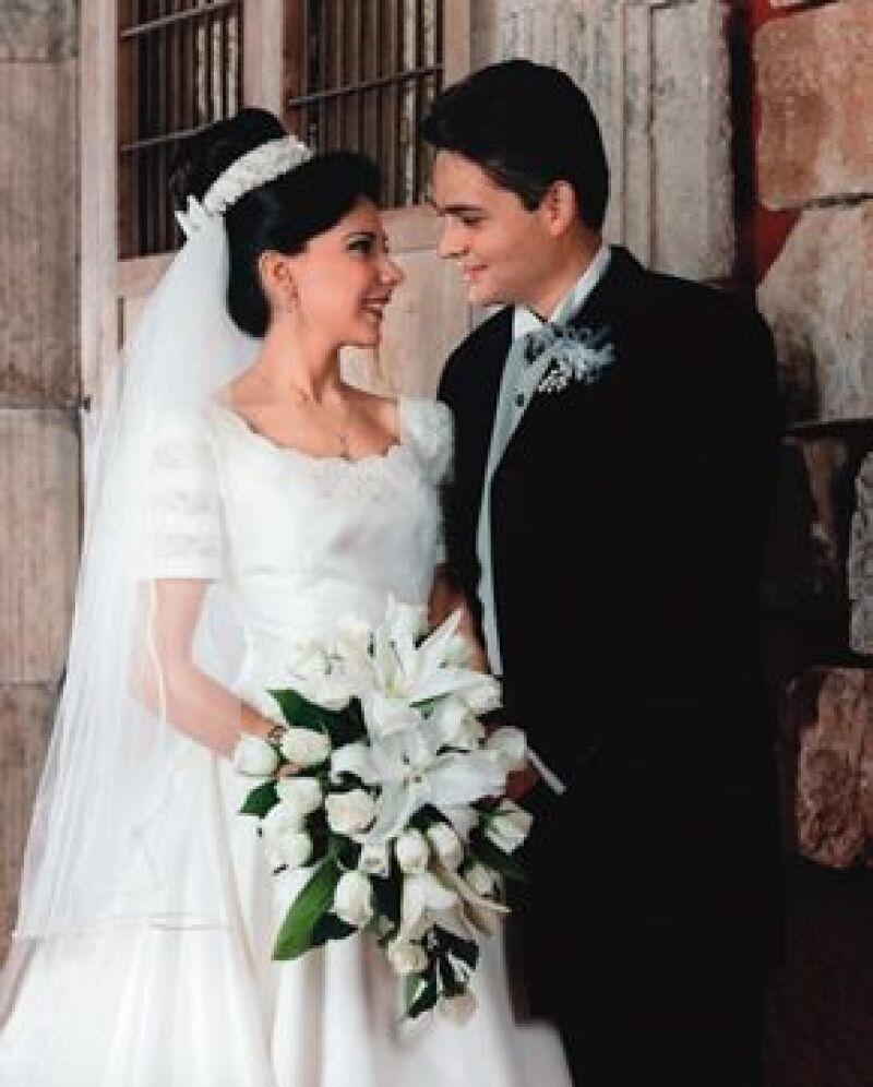 Se casaron en la Catedral de Campeche el 20 de junio de 1998.