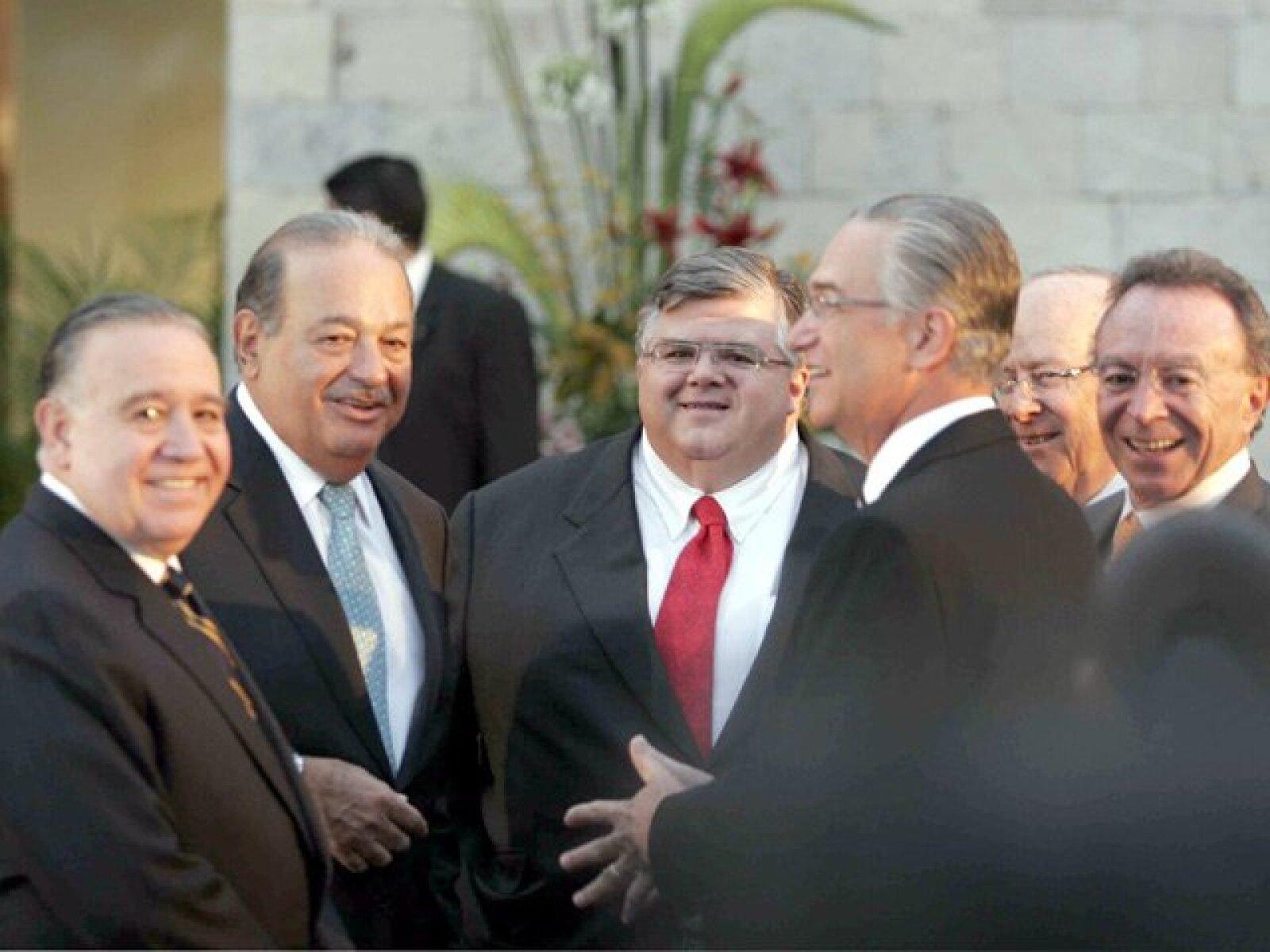 Valentín Díez Morodo, Carlos Slim, Agustín Carstens, Ricardo Salinas Pliego y Guillermo Ortíz Martínez