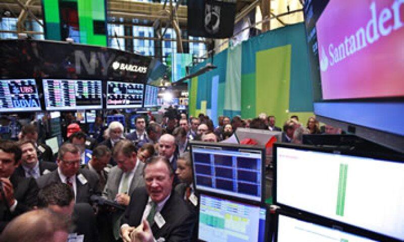 Santander también incursionó este miércoles en la Bolsa de Nueva York. (Foto: Reuters)