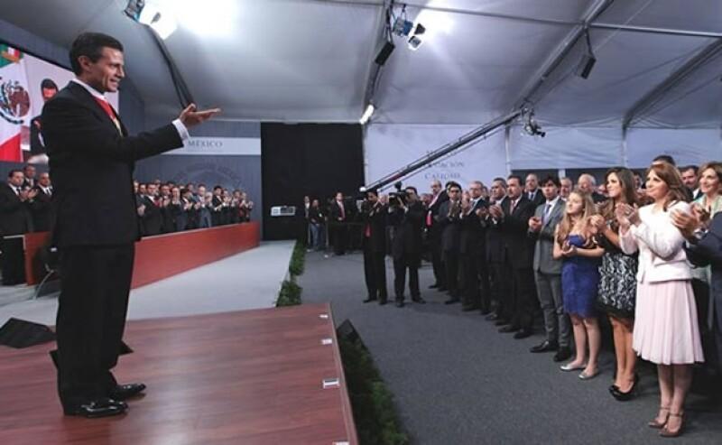 Angélica Rivera en el primer Informe Presidencial