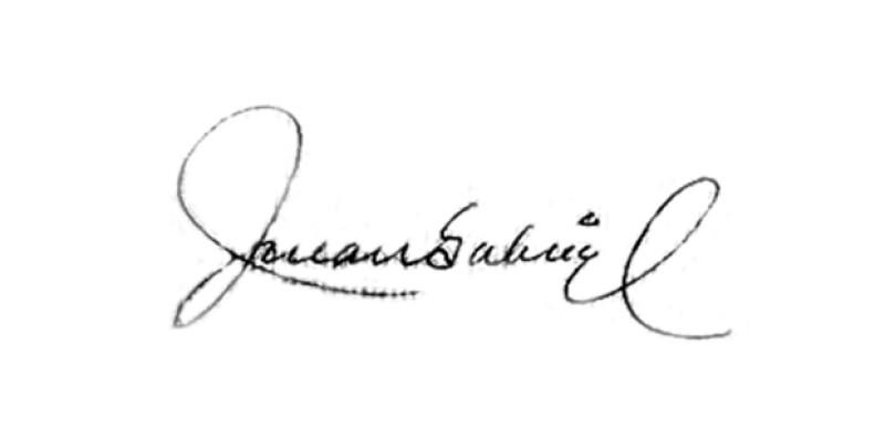 María Fernanda Centeno, nuestra experta grafóloga, analizó el autógrafo del cantante, que refleja su sensibilidad pero al mismo tiempo su gran perfeccionismo.