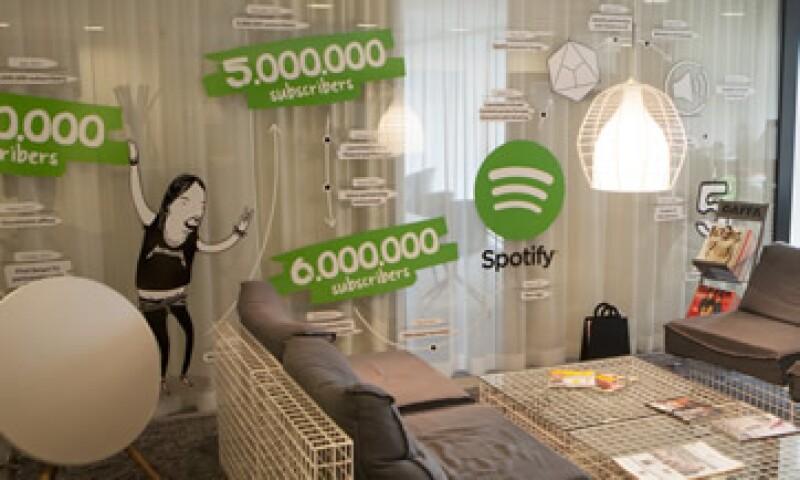 Las oficinas centrales del servicio de transmisión de música Spotify en Suecia (Foto: Getty Images/Archivo )