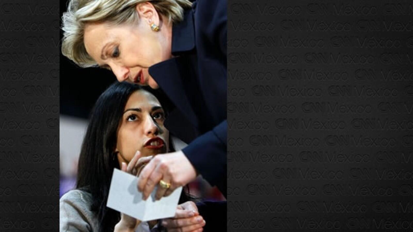 Huma Abedin - Hillary Clinton - campaña 2008