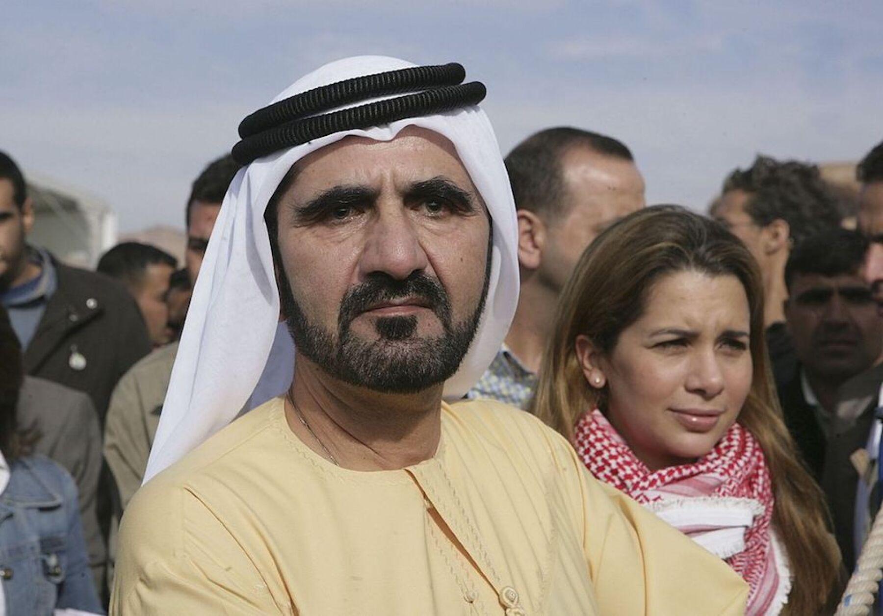 Mohamed bin Rashind y la Princesa Haya de Jordania