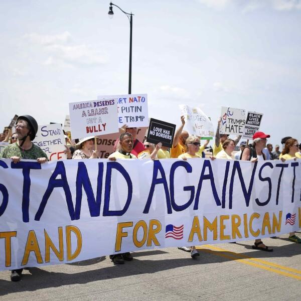 Protestan en Cleveland