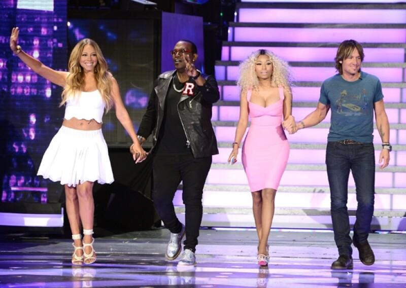 De acuerdo con Eonline, Mariah Carey, Nicki Minaj, Randy Jackson y Keith Urban, actuales jueces, podrían no continuar en la siguiente temporada del show de talento estadounidense.
