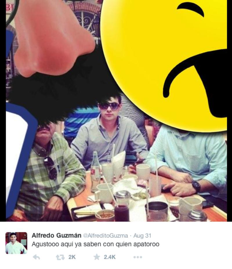 La cuenta de Twitter que se presume es de Alfredo Guzmán, hijo del famoso narcotraficante, muestra en una foto su posible localización… ¿En Costa Rica?