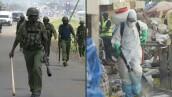 Militares y gas lacrimógeno para la cuarentena en algunos países africanos