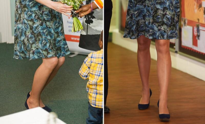 Kate lució por completo el mismo outfit.