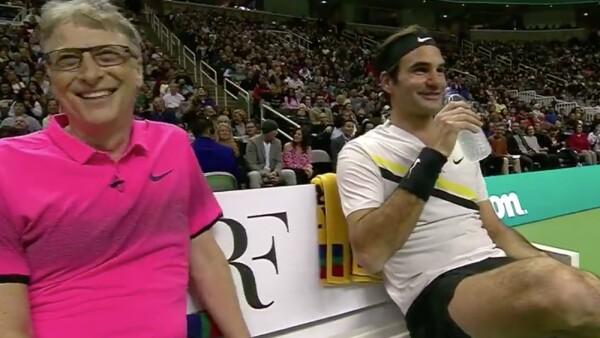 Roger Federer y Bill Gates