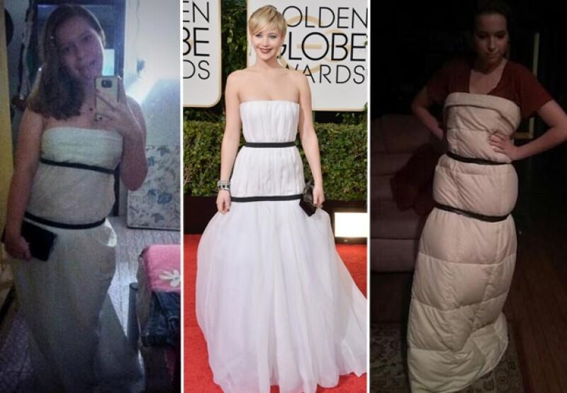 A través de redes sociales comenzaron a circular este tipo de imágenes imitando el estilo de la ganadora del Oscar.