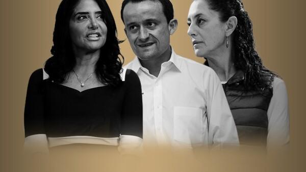 Alejandra Barrales, precandidata del PRD, Mikel Arriola, precandidato del PRI y Claudia Sheinbaum de Morena, finalizan este 11 de febrero sus precampañas