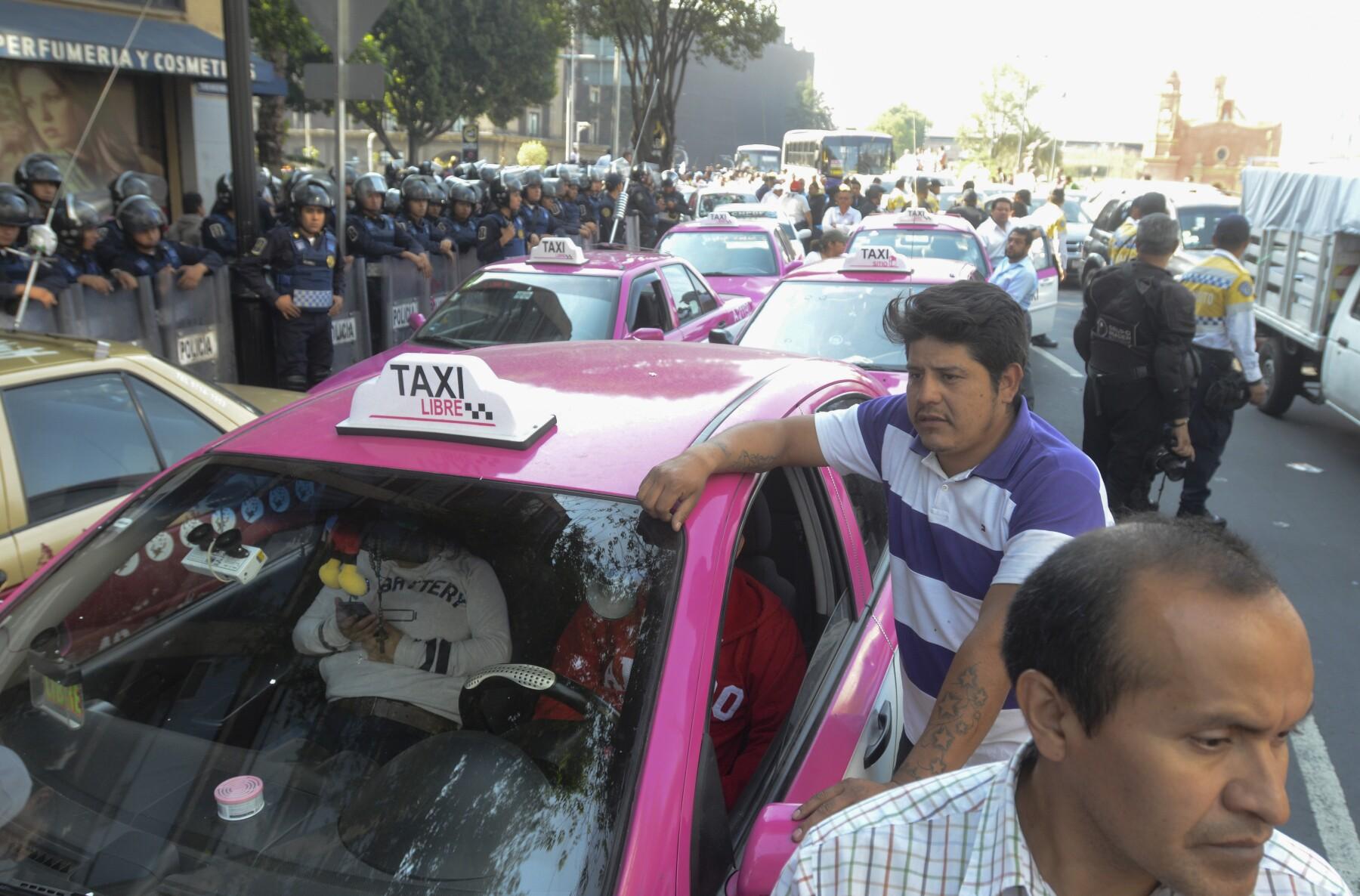 protesta taxistas CDMX